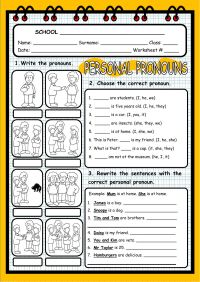 Personal Pronouns Interactive worksheet