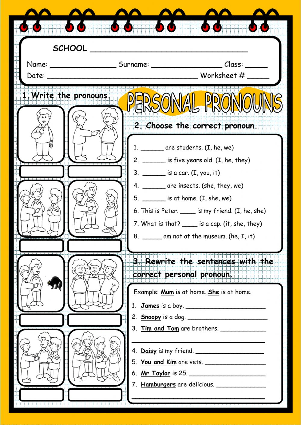 hight resolution of 35 Esl Subject Pronouns Worksheet - Free Worksheet Spreadsheet