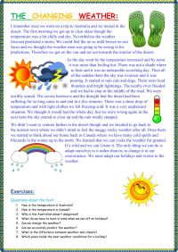 The changing weather - Interactive worksheet