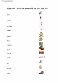 Adjectives Interactive worksheets