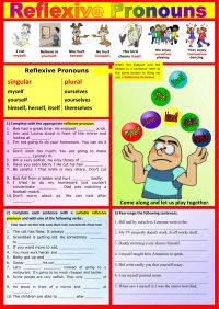 Reflexive Pronouns Interactive worksheet