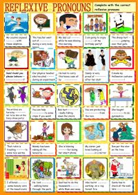 Reflexive pronouns : practice - Interactive worksheet