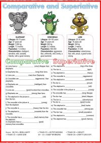 Comparative and superlative - Interactive worksheet