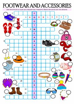 Clothes Interactive Worksheets