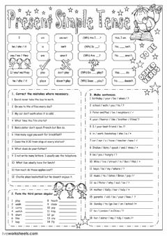 Present Simple Interactive worksheets