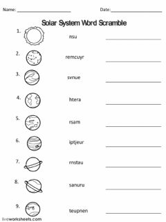 English Exercises: Solar System