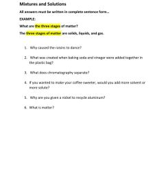 MIXTURES AND SOLUTIONS WORKSHEETS 5TH GRADE ANSWERS ANSWER - Bestseller: 5th  Grade Worksheet Mixtures And Solutions ... [ 1291 x 1000 Pixel ]