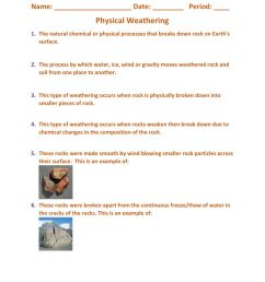 Physical And Chemical Weathering Worksheet - Promotiontablecovers [ 1291 x 1000 Pixel ]