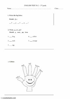 The alphabet Interactive worksheets