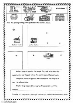 Prepositions Of Place Interactive Worksheets