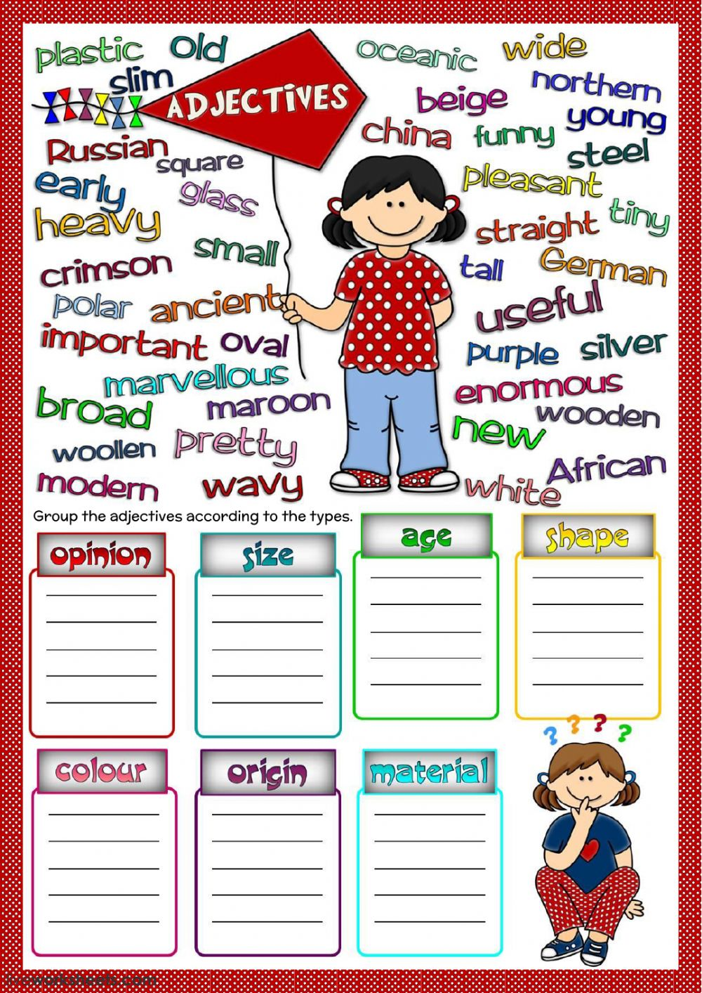 medium resolution of Coordinating Adjectives Worksheet   Printable Worksheets and Activities for  Teachers