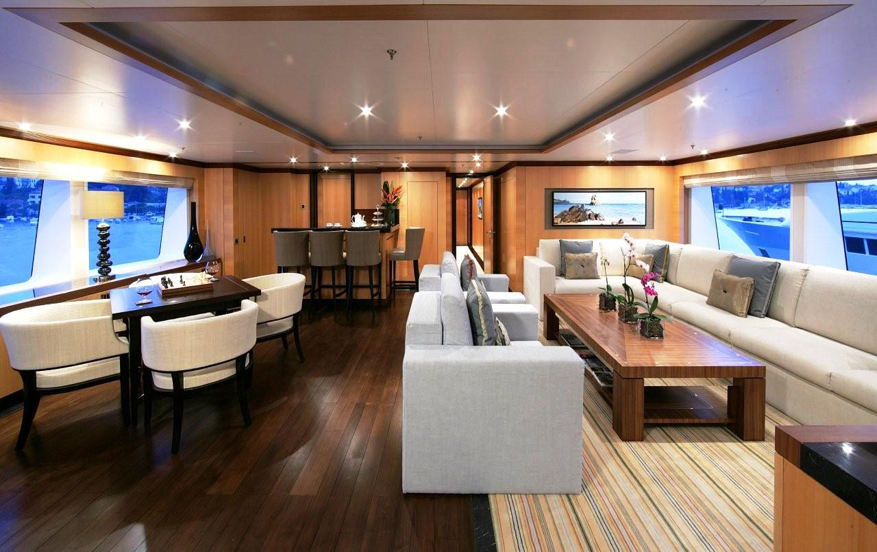 Contemporary Motor Yacht Interior AMNESIA Superyachts