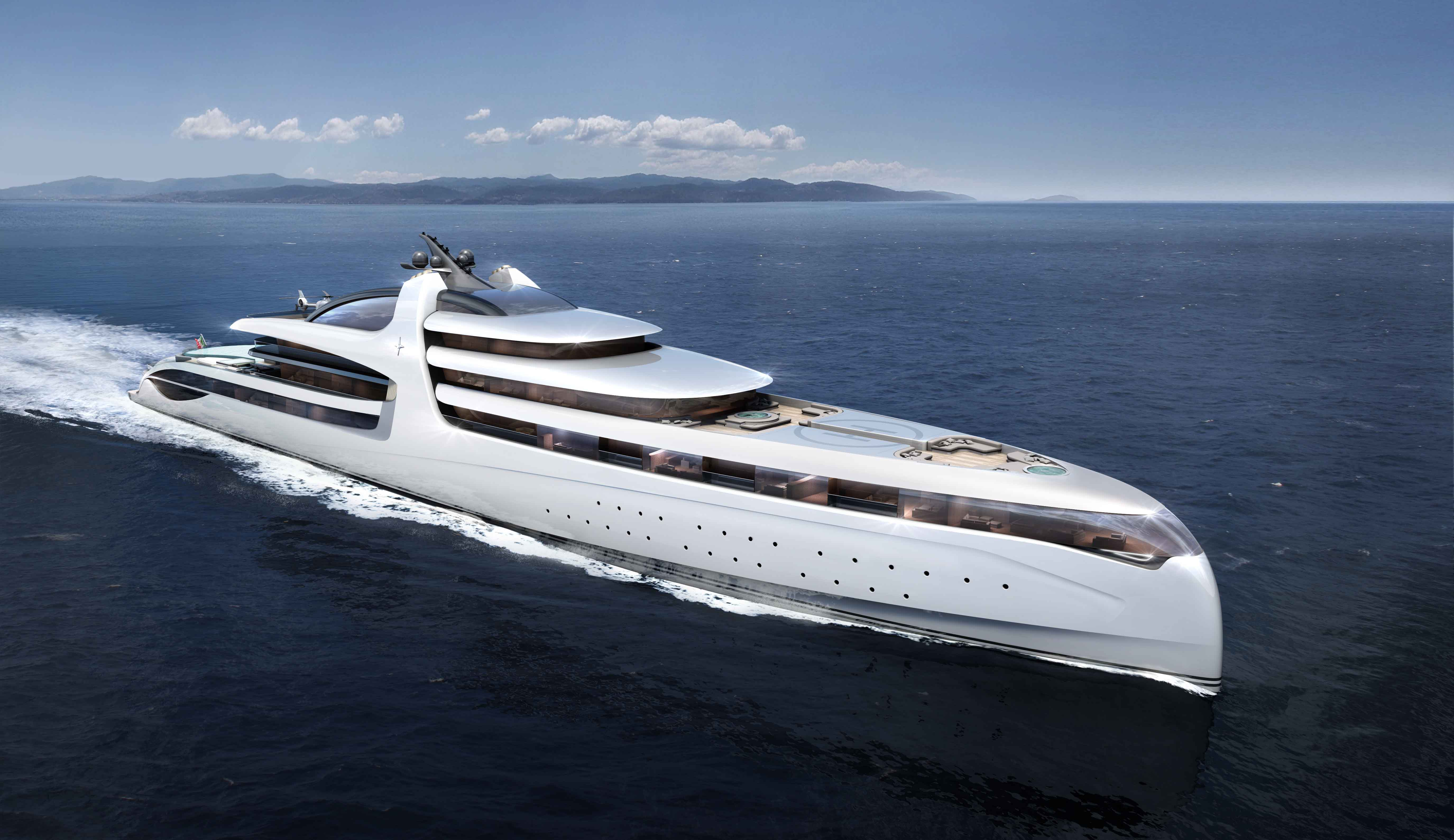 New Admiral Mega Yacht X FORCE 145 Concept Superyachts