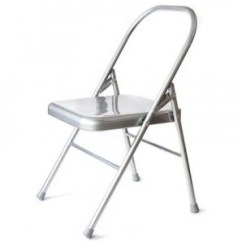 Folding Metal Yoga Chair L Hitchcock Chairs Props Liveyoga Shala Amsterdam Iyengar