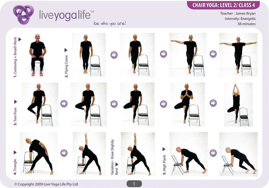 yoga chair exercises for seniors exersize ball with a level 2 class 4 live life