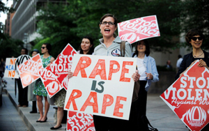 Violence Against Women Protest