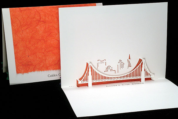 Golden Gate Origami Architecture Pop Up Cards By Live