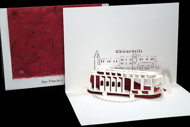 Cable Car Origami Architecture Pop Up Cards By Live Your