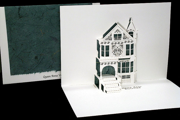 Queen Anne Victorian Origami Architecture Pop Up Cards