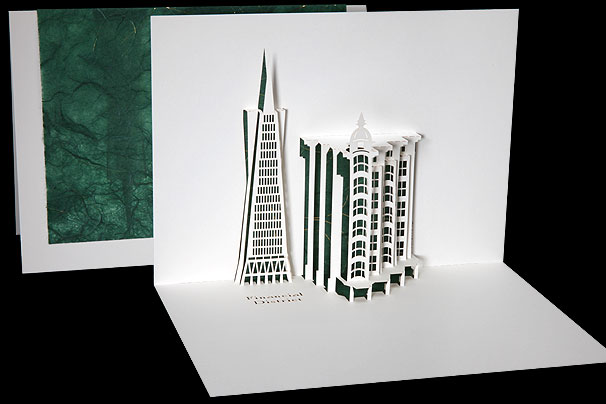 Financial District Origami Architecture Pop Up Cards By