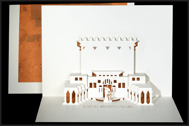 Jerusalem Temple Origami Architecture Pop Up Cards By
