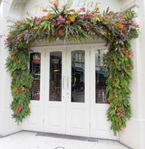 london-white-door-greenery
