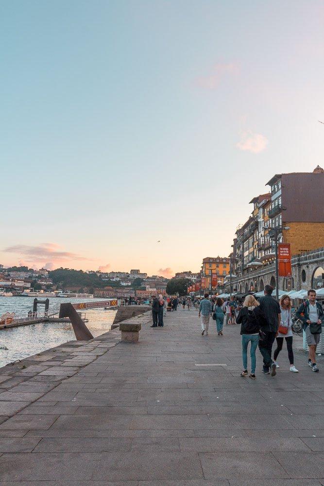 walks along the river in porto