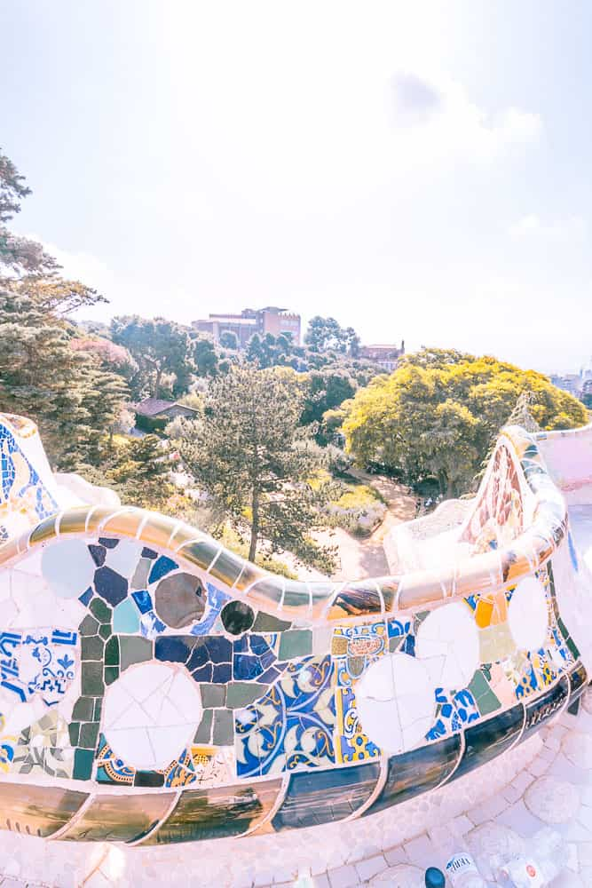 Barcelona park guell views