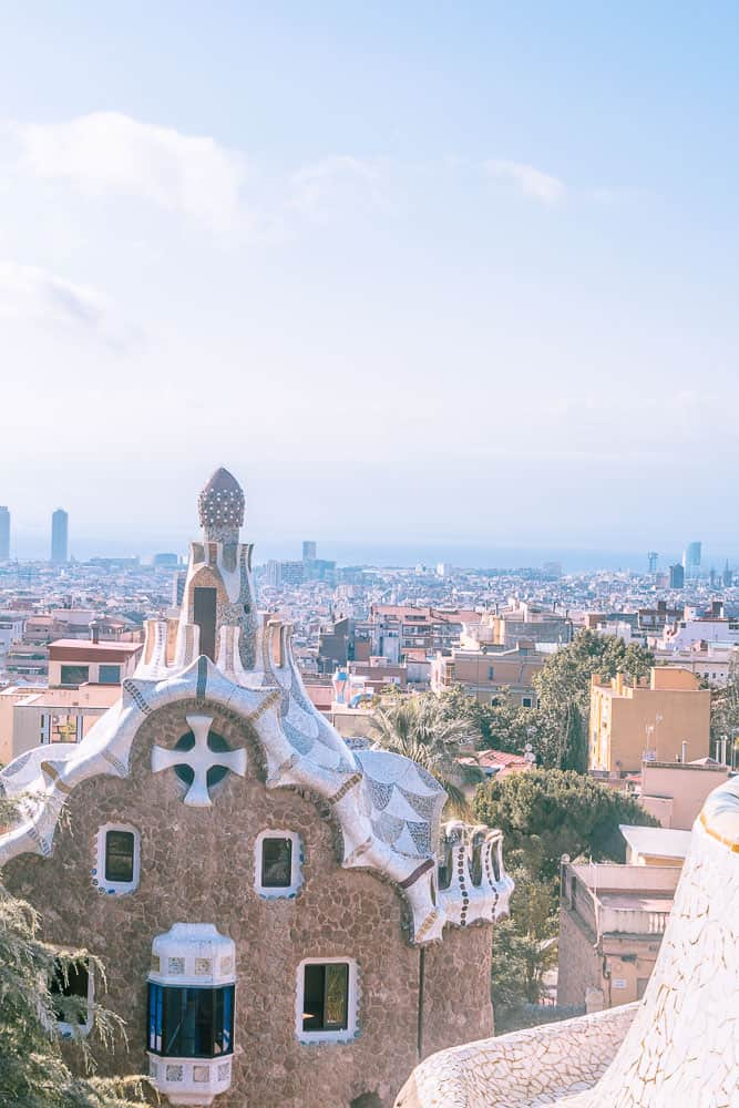 barcelona park guell city view-4