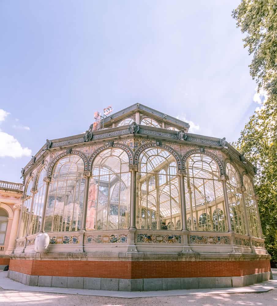 madrid - Palacio de Cristal from the outside