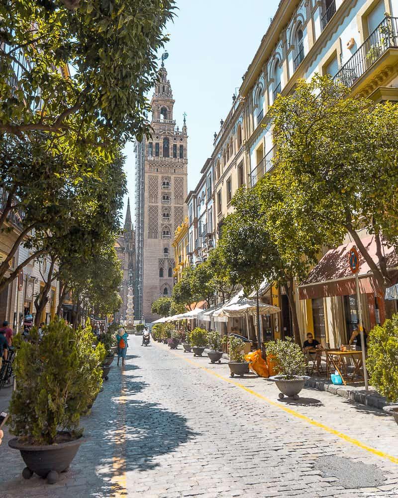 seville - neighbourhood with tower