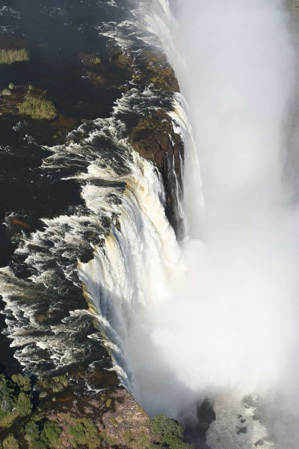 Vic falls from above