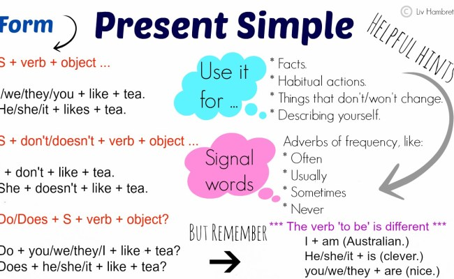 Present And Past Simple Tense