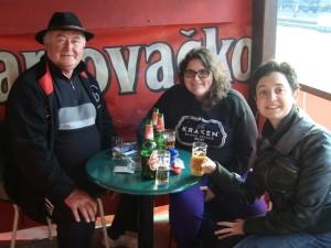 Here we are enjoying a Karlovačko in Karlovac!