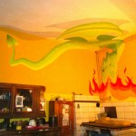 3D dragon in the kitchen