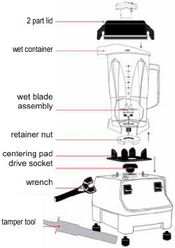 Vitamix Two Speed 1781 Blender (formerly the 4500) with 5