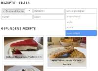Rezepte-Übersicht mit Filter