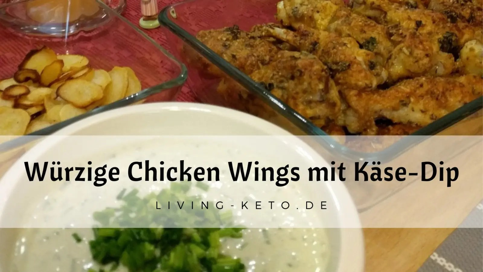 You are currently viewing Würzig panierte Chicken Wings mit Käse-Dip