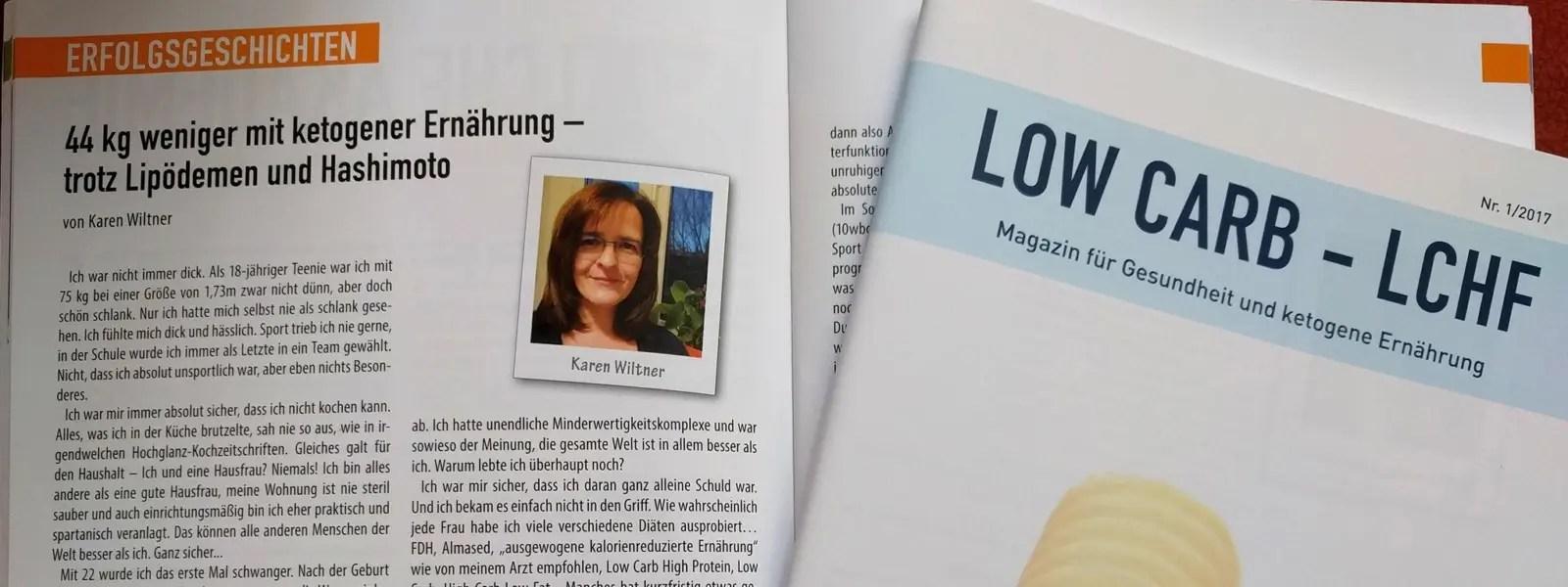 Leseprobe LCHF Magazin 01/2017: Meine Abnehmgeschichte