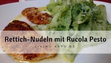 Read more about the article Rettich-Nudeln mit Rucola Pesto