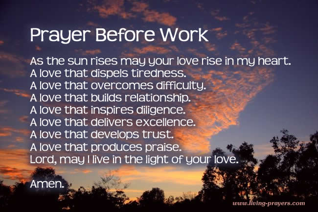 picture Prayer For A Great Day At Work living prayers