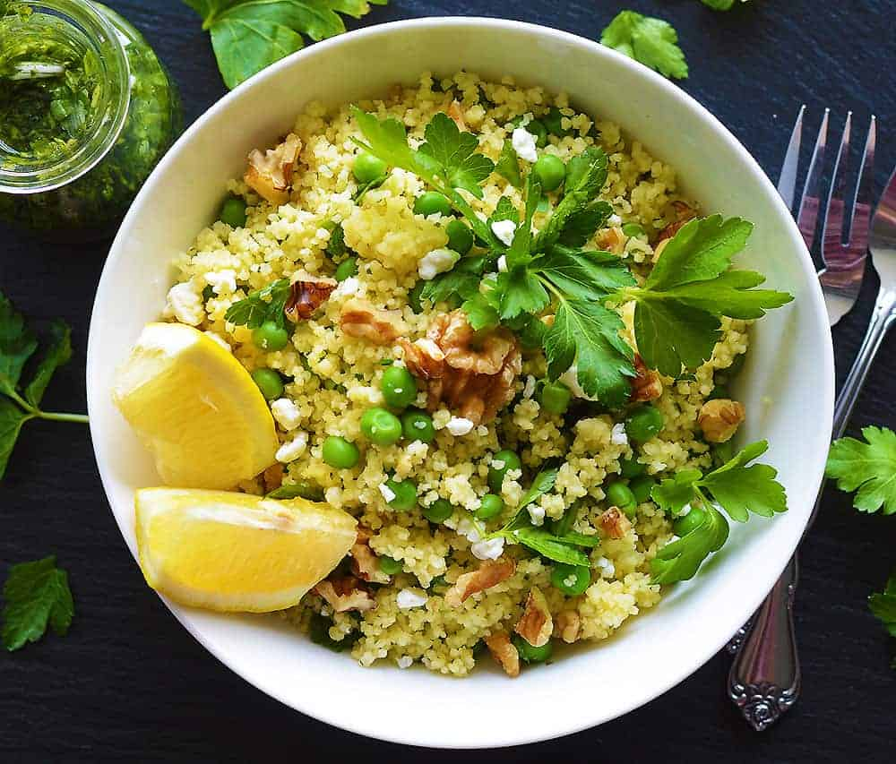 Couscous Salad with Basil Vinaigrette
