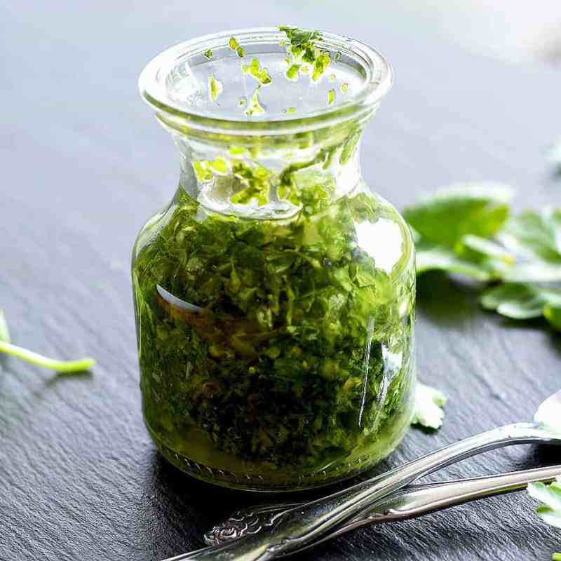 Salad with Basil Vinaigrette