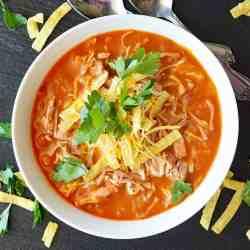 Homemade Jackfruit Tortilla Soup
