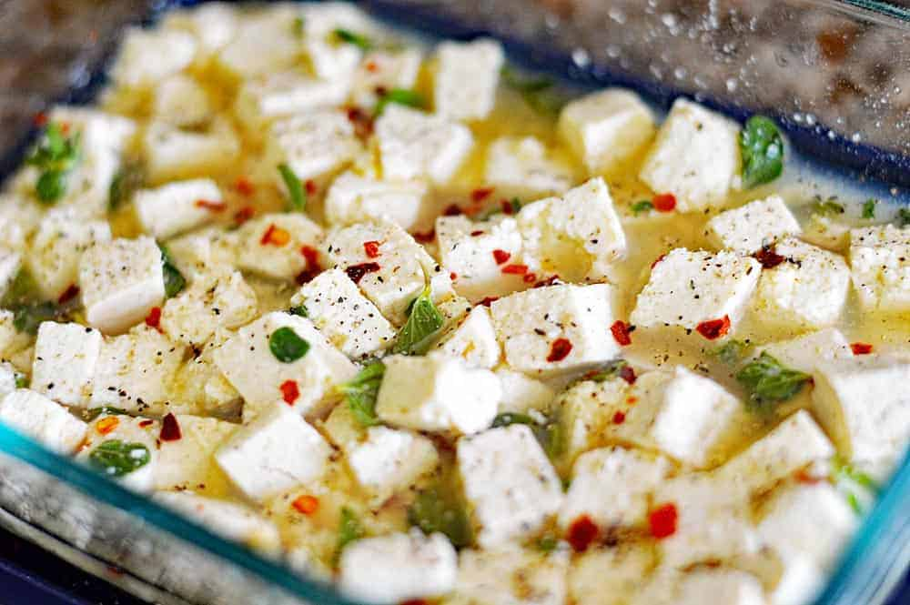 Easy Vegan Tofu Feta Cheese