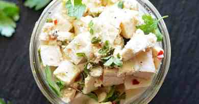 Easy Vegan Tofu Feta Cheese
