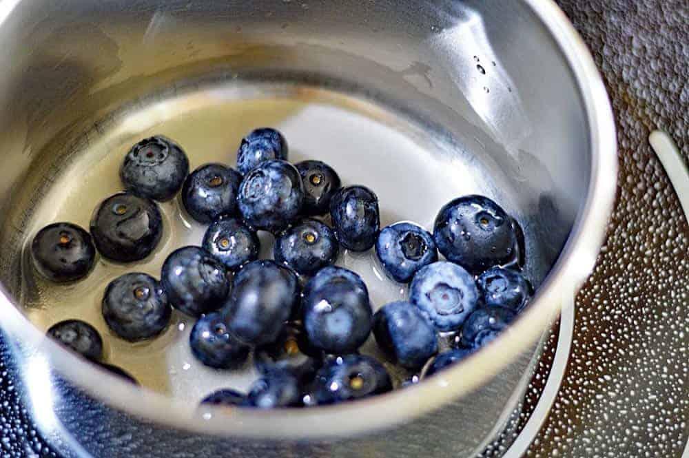 Vegan Blueberry Lemon Streusel Muffins with Blueberry Butter