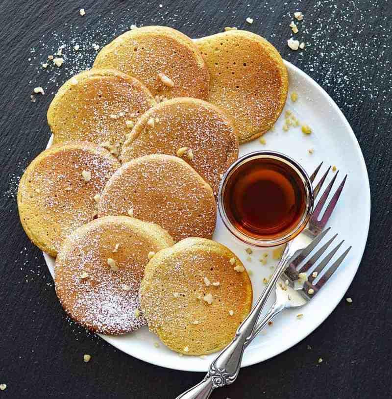 Vegan Silver Dollar Pumpkin Pancakes