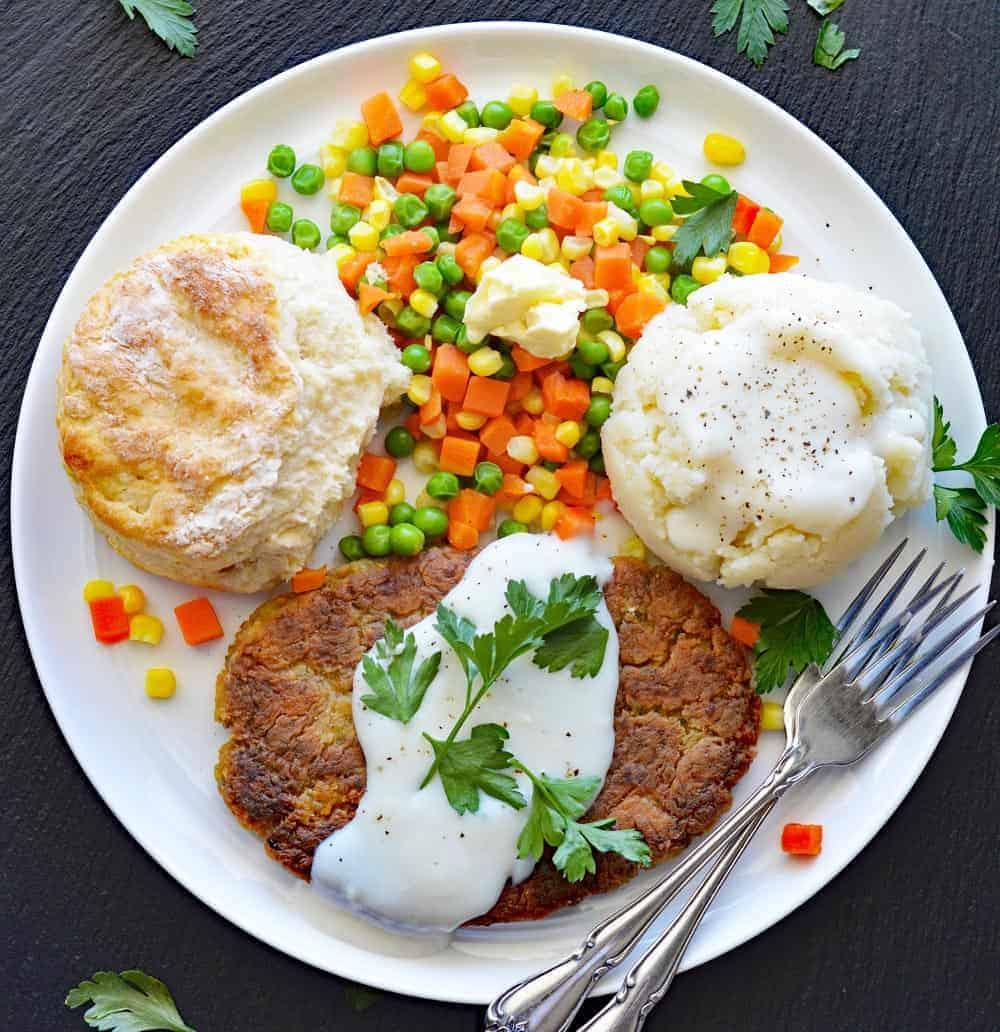Vegan Chickpea Fried Steak