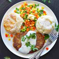 Vegan Chickpea Fried Steak